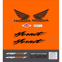 Kit Adesivo Hornet Cb 600f 2007 Laranja + Etiquetas Hrt049