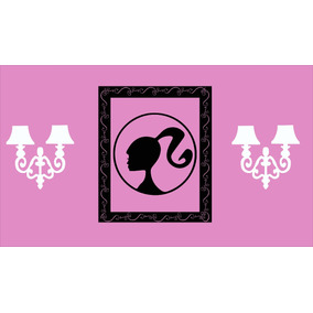 Vinilo Pared Barbie Cuadro Y Farol Infantiles Wall Stickers