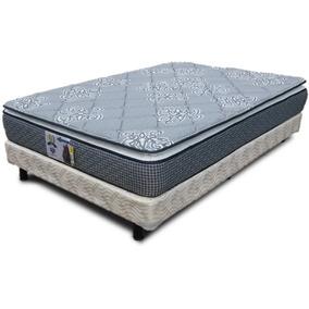 Colchon Y Box Queen Size Spring Air Para Cama Pillow Top