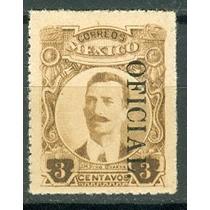 Sc O147 Año 1921 Oficial Negro Con Punto Pino Suarez Hombres