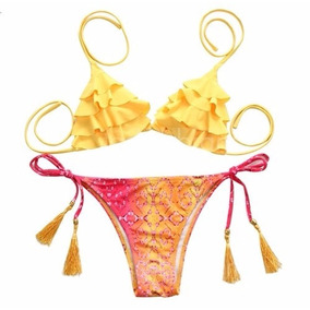 Bikini 2017 Arma Tu Conjunto Corpiño Mallas Verano Triángulo