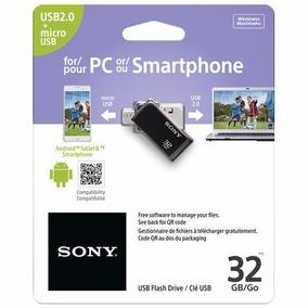 Pen Drive Dual Para Smartphone Tablet Usm32sa2 - 32gb Sony
