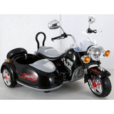 Increible Moto Chopera + Sidecar 12v Doble Velocidad + Efec
