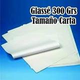 Papel Cartulina Glasse 300gr Tamaño Carta Y Oficio 50 Hojas