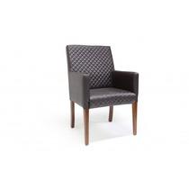 Cadeira Preta Lyly Com Braços Poltrona Sala Jantar Combinare