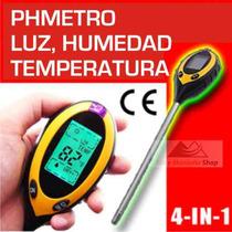 Phmetro Medidor Ph Humedad Luz Temp Suelo Tierra Cultivos