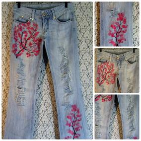 Calça Jeans 35 36 Zoomp Destroyed Customizada Recycled Diy
