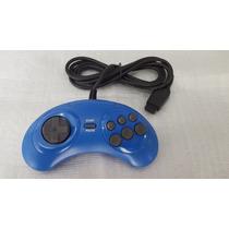 2 Controles Mega Drive Tectoy 6 Botões Original