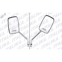 F10010200 Juego Espejos Italika Con Logo Y Leyenda