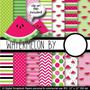 Kit Imprimible Pack Fondos Sandia Patilla 1 Clipart