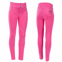 Pantalones Equitación Color Rosa Para Niñas, Importados