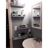Prateleira Banheiro Cosméticos Perfume 40cm Kit 4 Peças