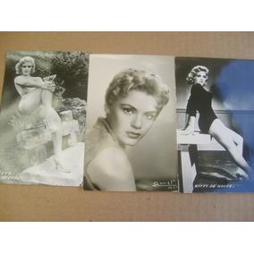 Kitty De Hoyos Tres Sexy Postales B&n 1950s