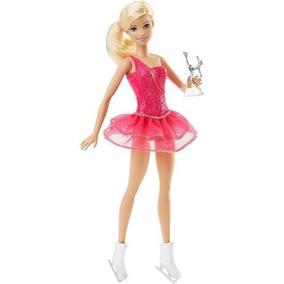 Boneca Barbie Profissões - Patinadora No Gelo Dhb15