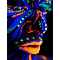 Crayones Fluorecentes Neon 6 Piezas Maquillaje Fiesta