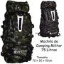 Mochila Camping Cargueira Style 75 Litros - Mat. Impermeável