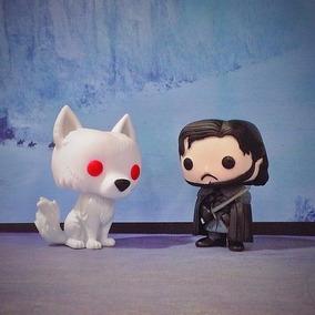 Jon Snow + Ghost Lobo Branco Funko Pop Game Of Thrones Serie