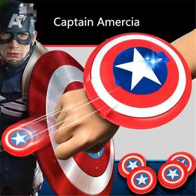 Mini Escudo Capitão America Lançador C/som E Luz