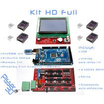 Kit Hd Full Impre Ramps1.4 Display Dvr Arduino2560 Pisser 3d