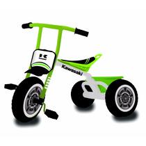 Triciclo Max Kawasaki Estructura Metal Con Canasto Original