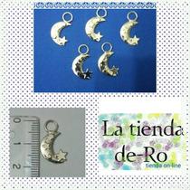 Dije Luna Y Estrella/metal/scrapbook/ 2cm/ 5 Unidades
