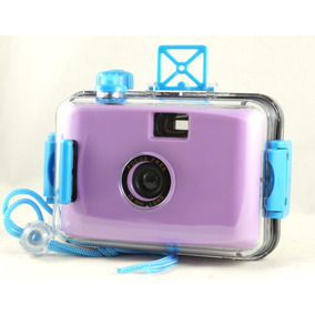 Camera Aquática Analógica De Filme 35mm Lomo Aquapix Purple