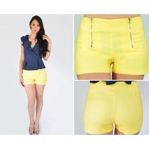 Shorts Casual Para Damas, Diseño Exlcusivo, Bbs0021