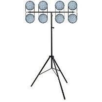 Estrutura Pedestal Kit 3 Tripé Iluminação Profissional Dj T