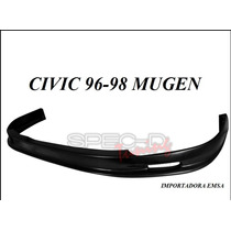 Lip Spoiler Delantero Honda Civic 96 - 98 Mugen Uretano