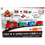 Trem Trenzinho Locomotiva Com Trilho Orbital Infantil Expres