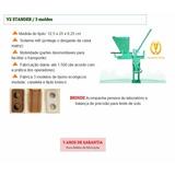 Prensa Vimaq V2 5 Moldes (profissional) Tijolo Ecológico