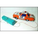 Dante42 Hojalata Juguete Antiguo Auto Policia Funciona