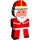 Navidad Papa Noel De Madera Lcatoys Exclusivo Pintado A Mano