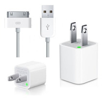 2 X 1 Celulares Cargador Pared Cable Datos Iphone Ipod Apple