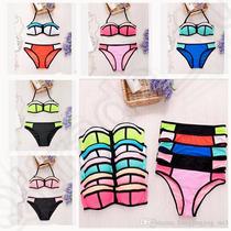 Bikini Playa Traje Baño Neopreno Push Up 5 Colores Mayoreo