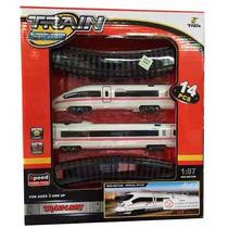 Tren Bala Chico Con Pista Locomotora Esc 1:87 Fenfa +3