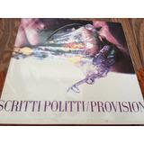 Scritti Politti/ Provision. Lp. Vinilo Uk