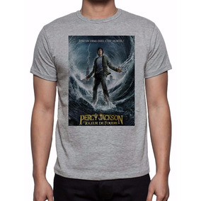 Camiseta Cinza Mescla Acampamento Meio Sangue Percy Jackson
