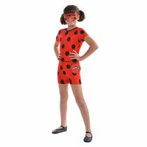 Fantasia Ladybug Miraculous Pop Original Promoção Tam P-m-g