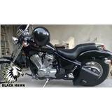 Alforja Solitaria Honda Shadow Black Hawk Cueros