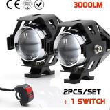 Kit 2 Luces Auxiliar Led Cree U5 3000lm +potente C/ Switch