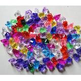 Pedras Acrílicas Imita Cristal 10 Sacos Cores - Transparente