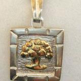 Medalla Arbol De La Vida Plata Y Oro