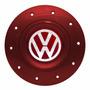 Calota Centro Roda Eurovan Vw Fiat Gm Aro 13 15 Vermelho