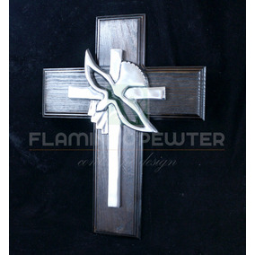 Cruz Espiritu Santo C/madera Hecho En Pewter Mod: 6124m