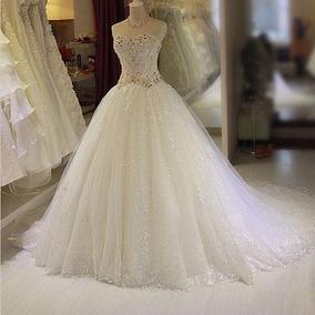 Vl09 Vestido Noiva Importado Lindo Luxo Frete Grátis