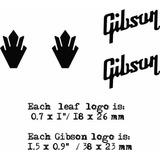 Set Logos Guitarra Electrica Gibson Sg / Les Paul Epiphone *