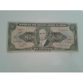 M151 Cédula Antiga Dez Cruzeiro Nota Dinheiro Antigo.