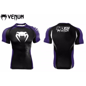 Rash Guard Venum No Gi Ibjjf Approved Preta Roxa