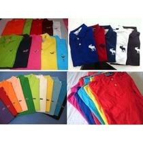 Kit 5 Camisas Polo + 4 Bermudas Sarja + 10 Camisa Gola V Var